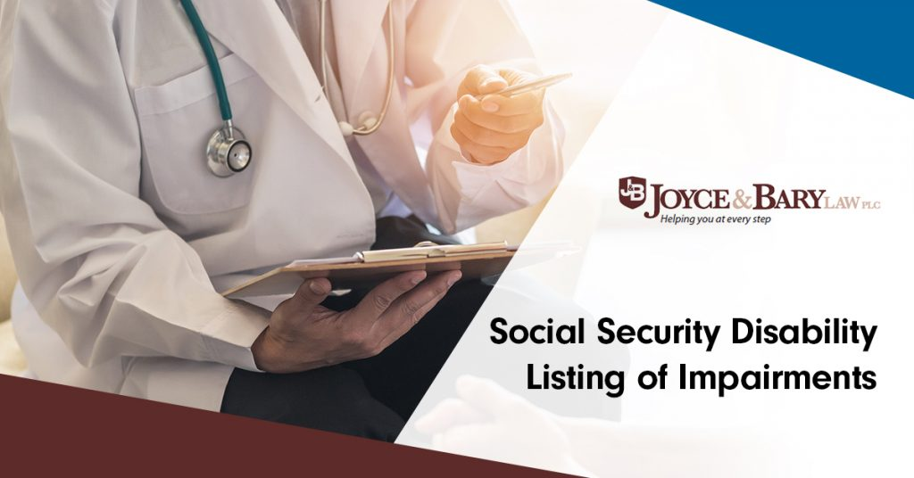 social security disability listing of impairments